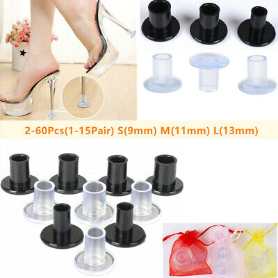 1-15Pairs High Heel Protectors Stopper Stop Sinking Stiletto High Heel Cover Lot