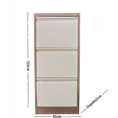 3 Drawer Filing Metal heavy duty Steel Office Cabinet