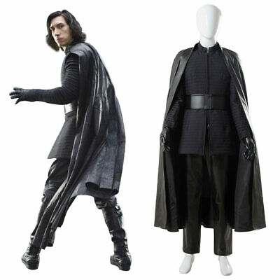 Star Wars 8 VIII The Last Jedi Kylo Ren Suit Cape Cosplay Costume Cloak Outfit