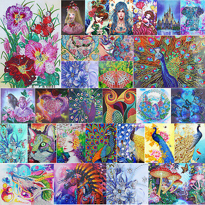 5D DIY Special-Shape Diamond Painting Peafowl Cross Stitch Embroidery Mosaic Kit