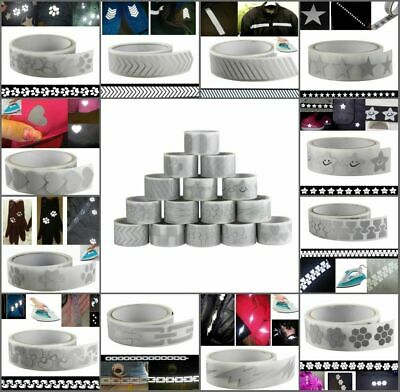High Visibility Safety Heat-transfer Vinyl Film Silver Reflective Iron On Tape