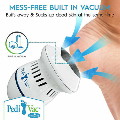 Pedi Vac Remover Rechargeable Electronic Foot Files Clean Tools Feet Care DE DHL