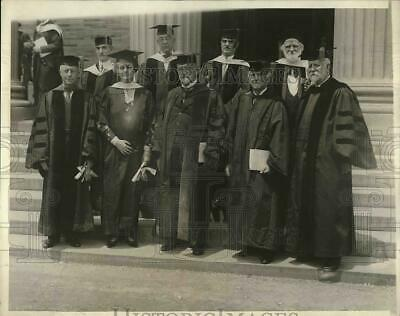 1930 Press Photo New York University Graduation, Elmer E. Brown, Dr. G Alexander