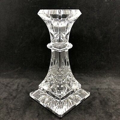"""Waterford Cut Crystal Lismore Single 6"""" Tall Candlestick Candle Holder Stunning!"""