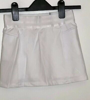 ADIDAS Girls Essential Rangewear Skort White Size 8 Years BNWT