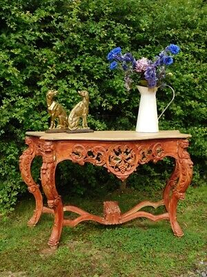 A Good Sized Large Vintage Impressive Decorative Console Side Table
