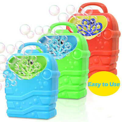 Bubble Machine Kids Durable Automatic Bubble Blower Outdoor Toys For Girl Boy