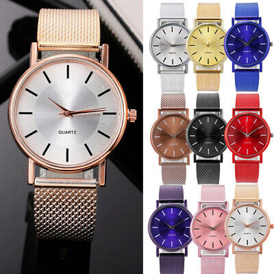 Women Watch Mesh Band Stainless Stell Quartz Analog Dress Ladies Wrist watch