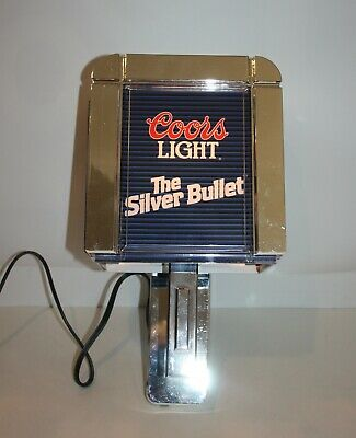 Coors Light The Silver Bullet Wall Lamp Light Sconce Great Condition