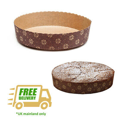 Paper Flan Cases 155mm / 6'' Tart Moulds Quiche Cake Biodegradable Recyclable