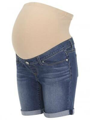 Jeanswest 72 Ladies AU Size 8 Stretch Denim Belly Band Maternity Jeans Shorts