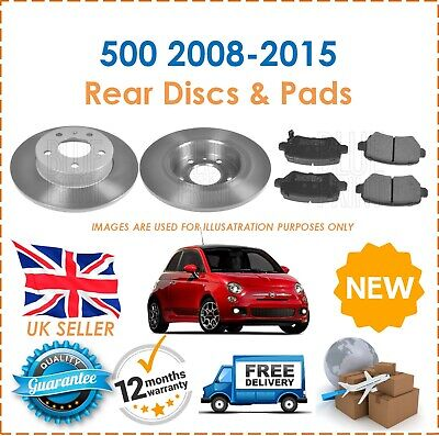 For Fiat 500 1.2 2008-2013 TWO 2 Front Brake Discs /& Brake Pads New OE Quality