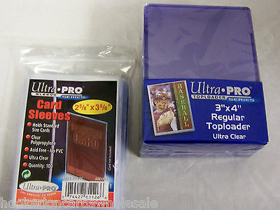1000 (1 Case) Ultra Pro Toploaders & 1000 (10 Packs) Soft Sleeves Brand New!