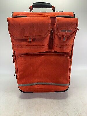 90's Polo Sport Ralph Lauren Rolling Carryon Luggage Red Vintage Suitcase 22""