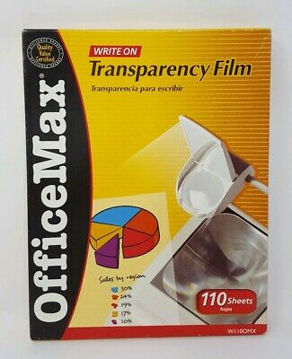 Office Max Write On Transparency Film 8.5 X 11 WII0OMX 90+ Sheets