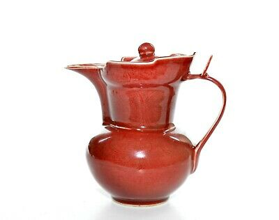 A Rare Chinese Copper-Red Porcelain Ewer