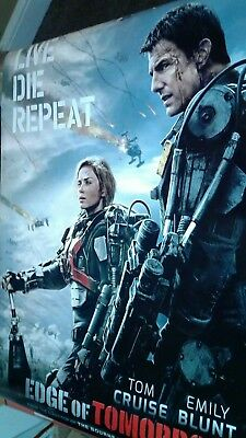 EDGE OF TOMORROW TOM CRUISE Original 27x40 DS Movie Theater Poster EMILY BLUNT+1