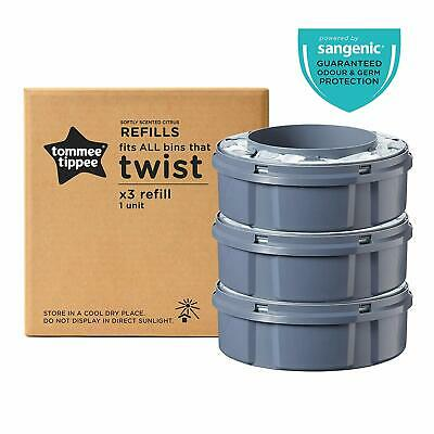 3 Recambios Contenedor Tommee Tippee Sangenic Twist & Click Pañales Unidades Tec