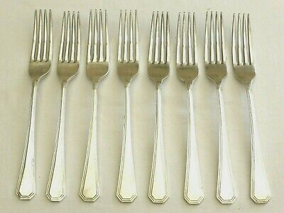 8 x VINTAGE MAPPIN & WEBB SILVER PLATED ATHENIAN CUTLERY DINNER FORKS  1470427/1