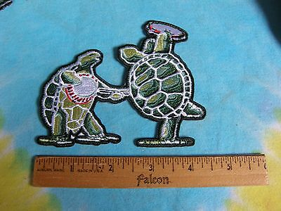 Grateful Dead Dancing Terrapins with Banjo & Tambourine 4.5 Inch Iron On Patch