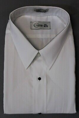 65/% Polyester 35/% Cotton Classic Front 14.5-34//35 Wing Collar Tuxedo Shirt