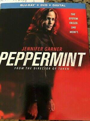 PEPPERMINT BLU RAY + DVD + Digital HD & SLIPCOVER Brand New