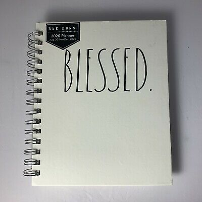 NEW Rae Dunn BLESSED 2020 Small Planner August 2019-December2020 Spiral Notebook