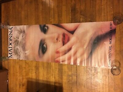 Vintage MADONNA - WHO'S THAT GIRL - WORLD TOUR 1987 POSTER - 21x60 Long Rare