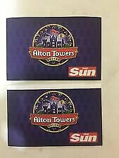 2 x Alton Towers Tickets Saturday 7th September 2019 07/09/2019 (Not E- Tickets)