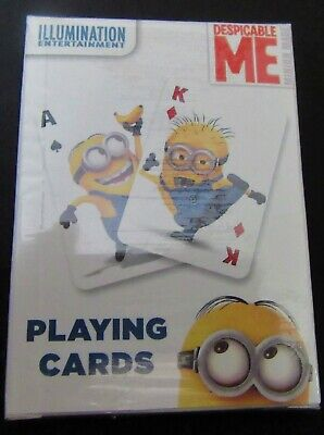 Despicable Me Minions Illustrated Jumbo Playing Cards Deck with Rules NEW UNUSED