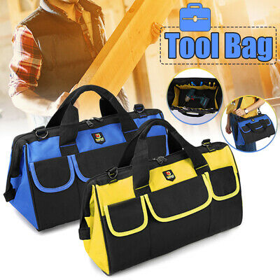 MECO 14'' 17'' 19''  Large Heavy Duty Tool Bag Wide Mouth Waterproof Organizer