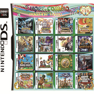 US 208 in 1 Game Games Cartridge Multicart For Nintendo DS NDS NDSL NDSi 2DS 3DS