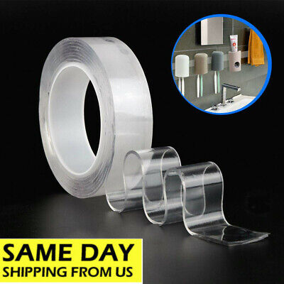 Best Double-sided Nano Gel Mat Tape Removable Sticky Strips Grip Home Supplies