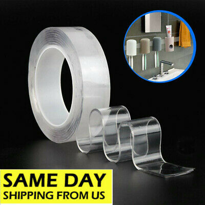 Reusable Magic Nano Tape Double Sided Traceless Clear Reinforce 2MM Thickness