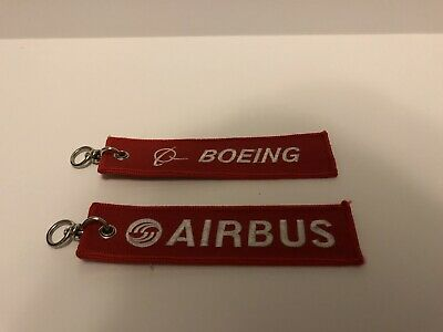 2 FABRIC KEY RING Remove Before Flight Pilot Bag Crew Tag Luggage Keyring