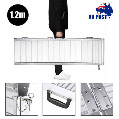 1.2m Folding Loading Access Ramp Wheelchair Mobility Scooter Steps porches Curbs