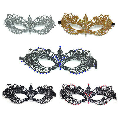 Sexy Women Lace Eye Face Mask Black Masquerade Party Ball Prom Costume Charms