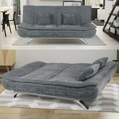 Modern Fabric Sofa Bed Recliner Chair Sleeper Sofa Bed 2/3 Seater Couch Settee