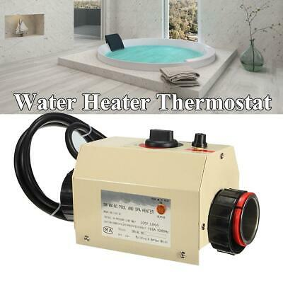 3000W Electric Water Heater Thermostat for Swimming Pool SPA Hot Tub 220V