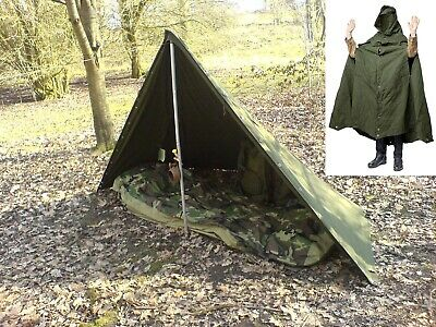POLISH ARMY NOS MILITARY LAAVU TENT 1 PERSON (1x PONCHO) SHELTER TARP  Size 2