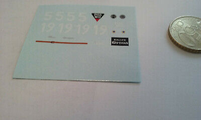 decals decalcomanie deco peugeot 402 darl mat grand prix de marseille 1949 1/43