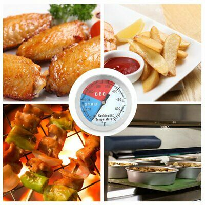 Stainless Steel BBQ Barbecue Smoker Grill Thermometer Temperature Gauge SW