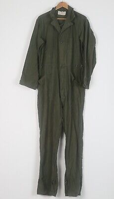 """Military Coveralls XL 44"""" 46""""  Green dated 1980 (HBB)"""