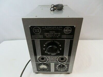 VTG H.G Fisher & Co Model 10A X-Ray Quack Medical Diathermy Device D-497
