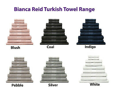 Bianca Reid 550GSM 100% Turkish Cotton 9pc Bath Sheet Set Super Soft RRP $209.95