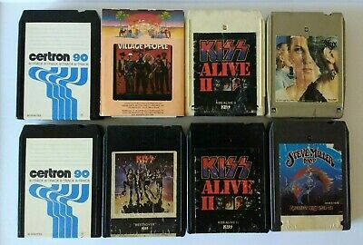 8 Track Cassettes - Lot of 8 - SOLD AS IS / SEE LISTING Kiss Styx Steve Miller
