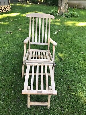 Antique/Vintage Deck Chair Queen Mary First Class Historical