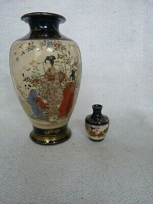 Two Very Nice Antique Japanese Satsuma Marked Vases.