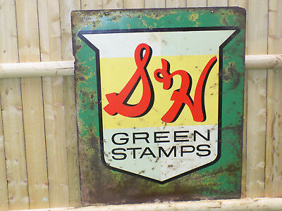 S & H Green Stamps Metal Sign