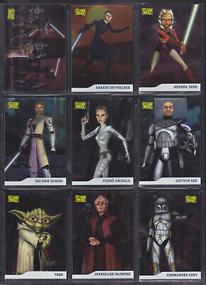Topps Star Wars - The Clone Wars 2008 - Complete 90 Card Parallel Foil Set /205